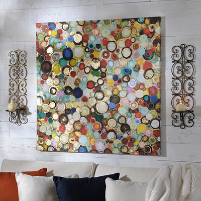 Colorful Bubbles Canvas Art Print