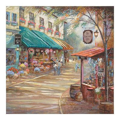 The Vineyard Café Canvas Art Print