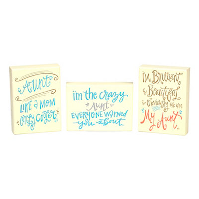 Sassy Aunt Wooden Plaques