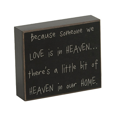 Heaven In Our Home Wooden Plaque