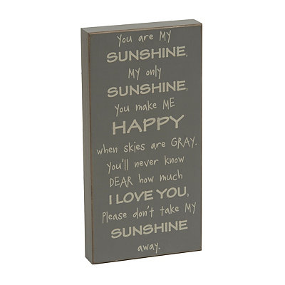 My Sunshine Wooden Plaque