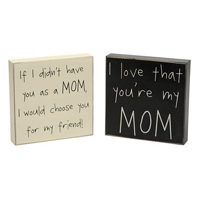 Mom Simple Messages Wooden Plaques
