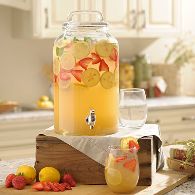Classic Charm Glass Beverage Dispenser