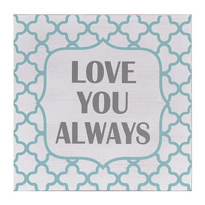 Love You Always Quatrefoil Plaque