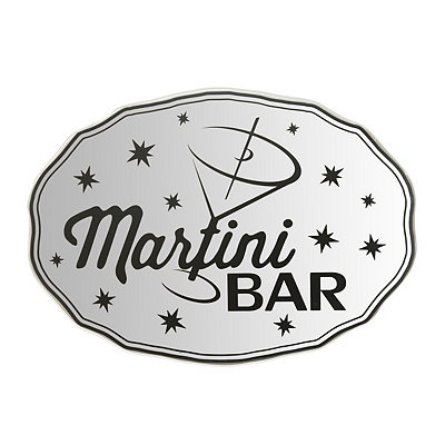 Martini Bar Mirrored Plaque