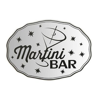 Martini Bar Mirrored Plaque