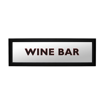 Wine Bar Mirrored Framed Plaque