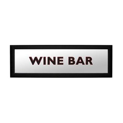 Wine Bar Mirrored Framed Plaque