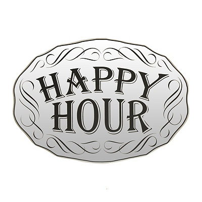 Happy Hour Mirrored Plaque