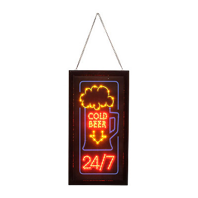 Cold Beer LED Framed Sign