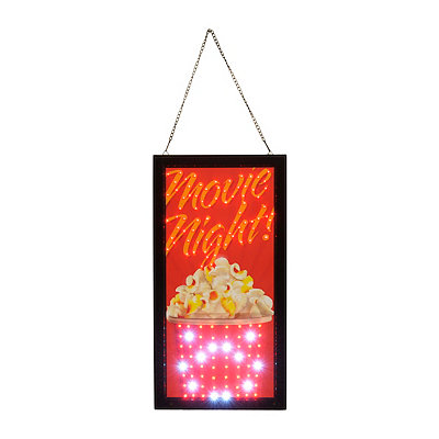 Movie Night LED Framed Sign