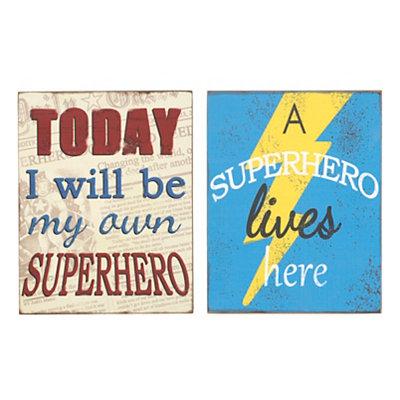 Superhero Wooden Plaques