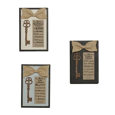 Burlap Key Plaques