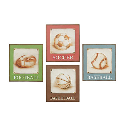 Vintage Sports Wall Plaques
