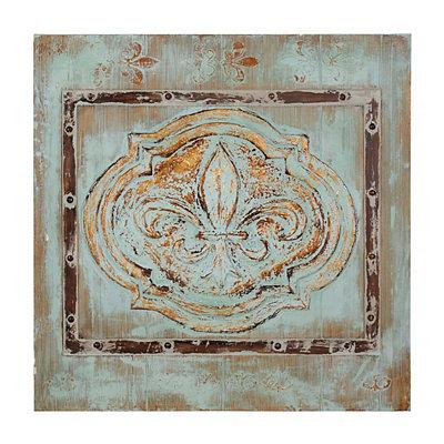 Pine Fleur-de-Lis Canvas Art Print
