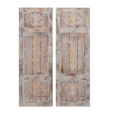 Vintage Door Canvas Art Prints, Set of 2