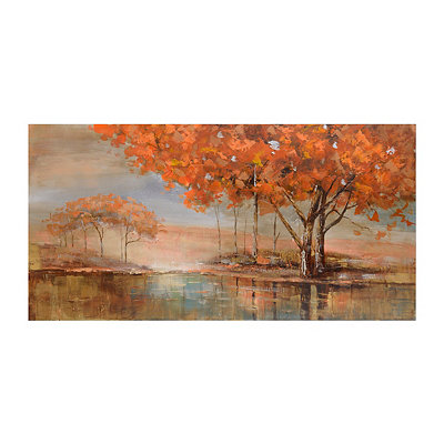 Orange Trees Canvas Art Print