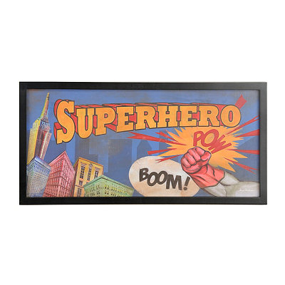 Comic Book Superhero Wall Plaque