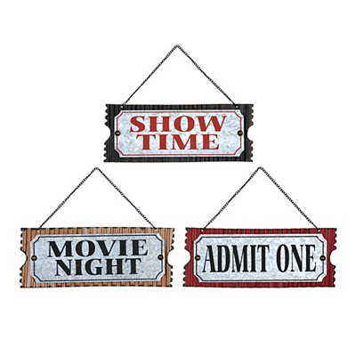 Movie Ticket Plaques