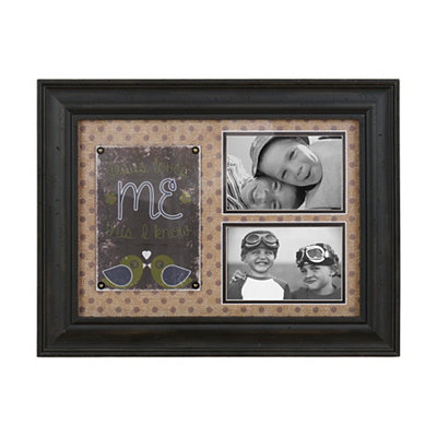 Jesus Loves Me Green Collage Frame