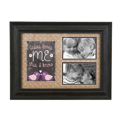 Jesus Loves Me Pink Collage Frame