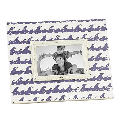 Distressed Purple Waves Picture Frame, 4x6