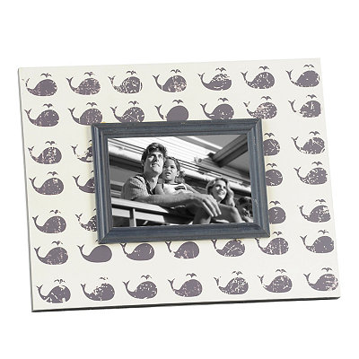 Distressed Gray Whales Picture Frame, 4x6