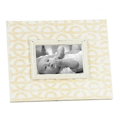 Distressed Tan Knots Picture Frame, 4x6