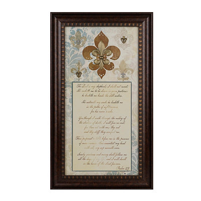 The Lord Is My Shepherd Fleur-de-Lis Shadowbox