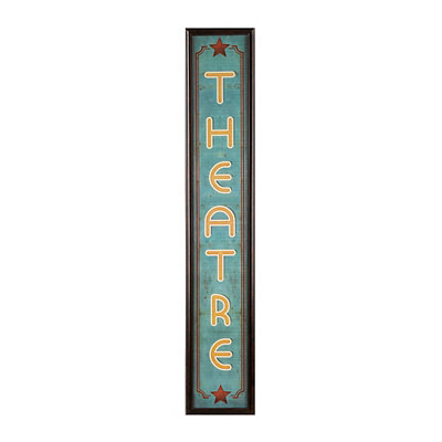 Retro Theatre Framed Art Print