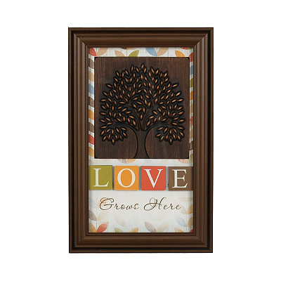 Love Grows Here Shadowbox