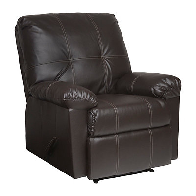 Espresso Faux Leather Recliner
