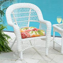 Savannah White Wicker Chair