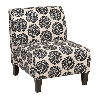 Sicily Domino Magnolia Slipper Chair