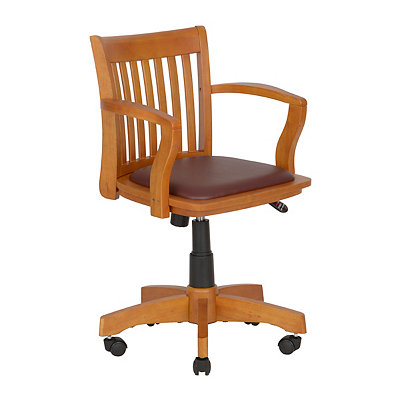 Deluxe Banker's Desk Chair with Padded Seat