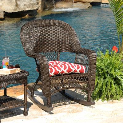 Geometric Red Outdoor Cushion