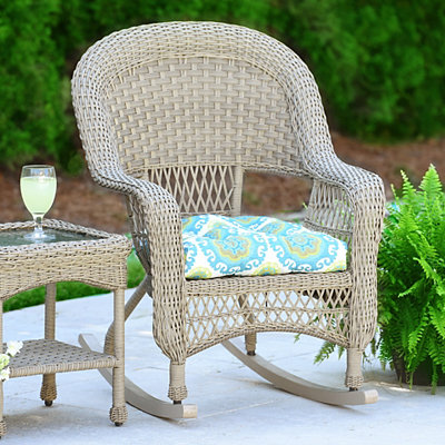 Turquoise Suzani Outdoor Cushion
