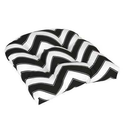 Black and White Chevron Outdoor Cushion