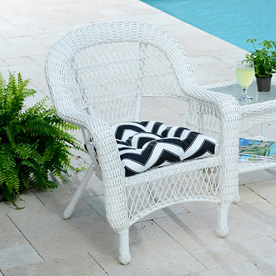 Black and White Chevron Outdoor Cushion