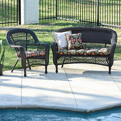 Medallion Outdoor Settee Cushion