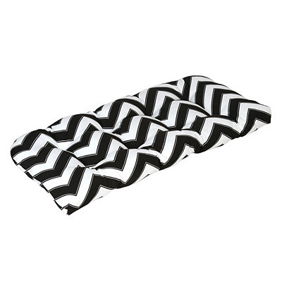 Black and White Chevron Outdoor Settee Cushion