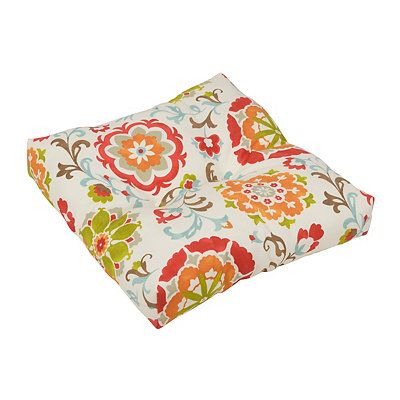 Primavera Floral Outdoor Ottoman Cushion