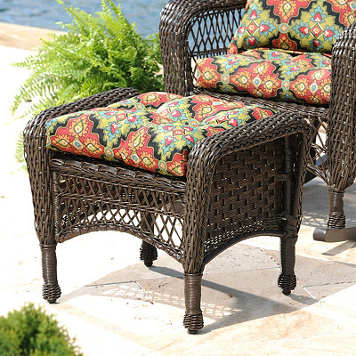 Medallion Outdoor Ottoman Cushion