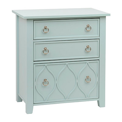 Slate Blue Glam Accent Table