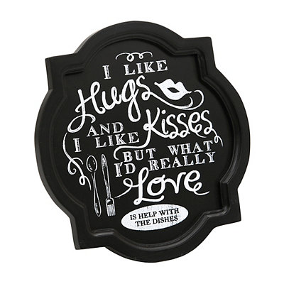 Hugs and Dishes Decorative Charger Plate