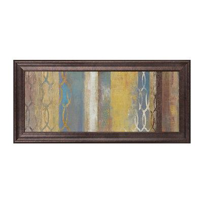 Blue & Gold Abstract Framed Art Print