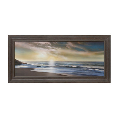 Sunlit Seashore Framed Art Print