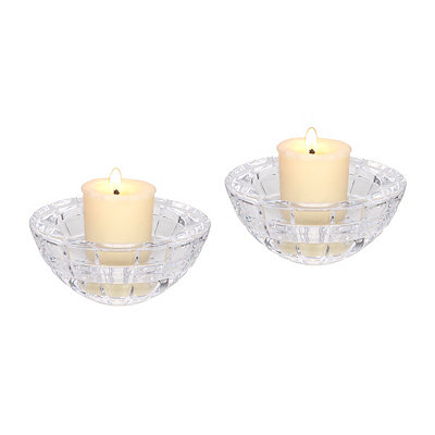 Round Crystal Votive Candle Holders, Set of 2