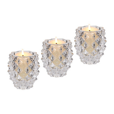 Pine Cone Pillar Candle Holders, Set of 3