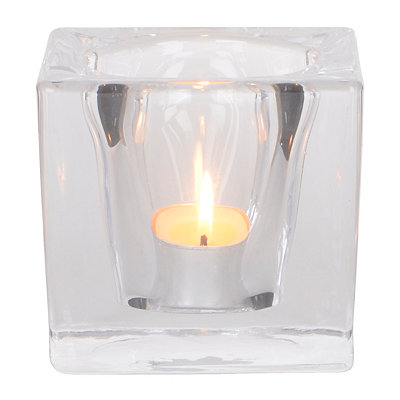 Crystal Cube Votive Holder